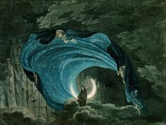The Queen of the Night Wicked Diva in Mozart's Magic Flute opera Karl Friedrich Schinkel (German, Simon Quaglio (German, Erté (Russian-French,. The Magic Faraway Tree, The Magic Flute, Stage Design, Set Design, Theatre Design, Occult, Faeries, Night Skies, Fairy Tail