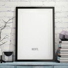 Poster Niente