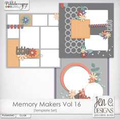 Memory Makers Vol 16 Template Pack: CU okay
