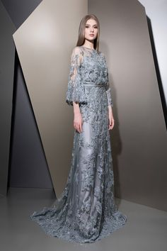 MaySociety — Ziad Nakad Ready To Wear Fall/Winter Night Gown Dress, Hijab Evening Dress, I Dress, Evening Dresses, Prom Dresses, Formal Dresses, Wedding Dresses, Couture Mode, Style Couture