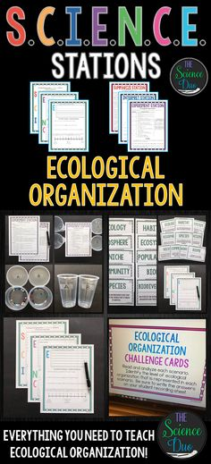 This Ecological Organization S.C.I.E.N.C.E. Station activity includes activities covering Earth's ecosystems and biosphere. This lab is designed to get your students engaged, collaborating, and moving in your daily lesson. Each station provides a different method for reinforcing important science content.