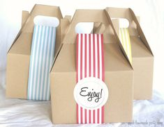orange gable boxes   10 BRoWN KRaFT Gable Boxes--6x4x4-packaging-box lunches-kids-gift ...