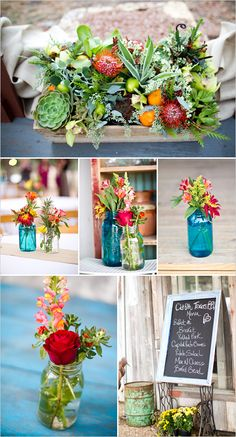 diy wedding flowers reception