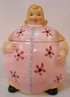 Vintage Enesco Imports Japan Cookie Jar Gingerbread Girl Rare Blonde …