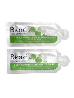 Best of Beauty 2015 Winner -- Top steals: Biore Self Heating One Minute Mask | allure.com
