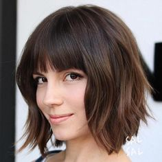 99 Best Medium Bob with Bangs Haircuts In Shoulder Length Hairstyles to Show Your Hairstylist asap, 20 Stunning Bob Haircuts with Bangs, 50 Best Short Bobs with Bangs Haircuts and Hairstyles for 40 Awesome Ideas for Layered Bob Hairstyles You Can T Miss. Layered Bob With Bangs, Short Hair With Bangs, Short Hair Cuts, Layered Cuts, Medium Bob With Bangs, Choppy Bob With Bangs, Side Bangs, Messy Bangs, Medium Layered