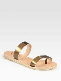 Ancient Greek Sandals - Alcestis Metallic Leather Sandals
