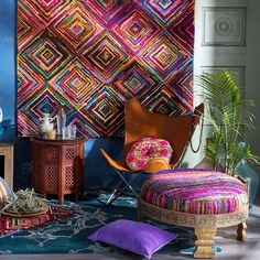 Create a relaxing atmosphere in your home with colorful bohemian accessories from Surya!