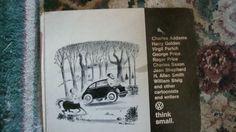VW Think Small Cartoonists Writers 1967 Volkswagen Dealer Book Illustrated | eBay
