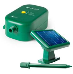 RainPerfect - pump and solar panel system ups the water pressure on your rain barrel so you can run a hose from it. $150.