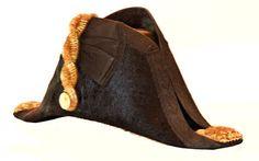 Angle view of LT Wildish's full dress uniform bicorn, cocked hat.