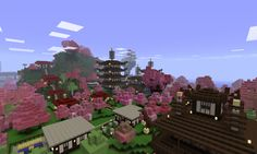 Minecraft Japanese Village minecraft japanese town - google search | minecraft | pinterest