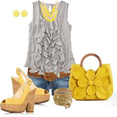 sunshine, created by johnna-cameron on Polyvore