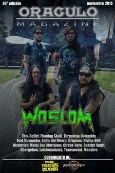 Força Metal BR: Woslom: capa de revista na Colômbia!