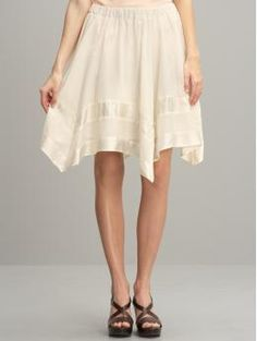 Ivory Handkerchief Skirt
