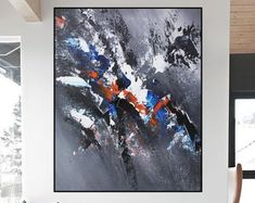 Original Large Abstract paintings By Professionals by WallAbstract Large Artwork, Original Artwork, Abstract Paintings, Abstract Art, Etsy Seller, The Originals, Canvas, Handmade Gifts, Tela
