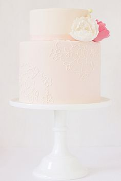 Hello Naomi is fast becoming my favourite cake designer! amazing lace and sugar flower cake. Gorgeous Cakes, Pretty Cakes, Cute Cakes, Wedding Cake Designs, Wedding Cakes, Red And White Weddings, Wedding Cake Inspiration, Wedding Ideas, Wedding Blog