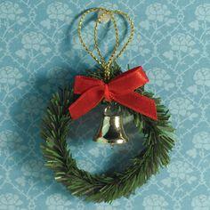 Christmas Wreath, Bow & Bell
