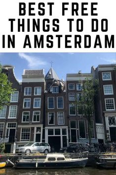 Best Free Things to do in Amsterdam Amsterdam is an expensive city. Here we round up the best free things to do in Amsterdam to help you save money and have a budget Amsterdam itinerary. Backpacking Europe, Europe Travel Guide, Travel Guides, Travel Destinations, Budget Travel, Amsterdam Itinerary, Amsterdam Travel Guide, Amsterdam Trip, Amsterdam Things To Do In