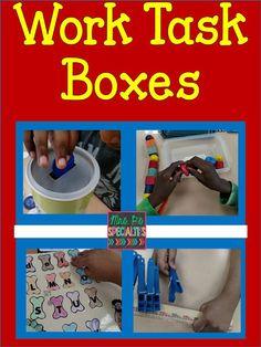 Mrs. P's Specialties!: Work Task Boxes- September