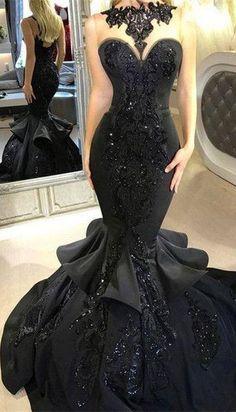 Black Sequins Mermaid Long 2020 Evening Prom Dress – Plano Bridal