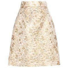 Dolce & Gabbana Metallic Jacquard Skirt (6.365 ARS) ❤ liked on Polyvore featuring skirts, bottoms, saias, gold, dolce gabbana skirt, jacquard skirts, metallic jacquard skirt, pink skirt and metallic skirts