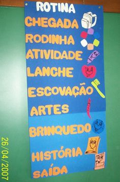 Rotina - Pré- Escola