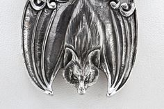 Big Flying Fox Bat Necklace Sterling Silver by billyblue22 on Etsy