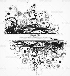 Floral-grunge-background-black-brusheezy
