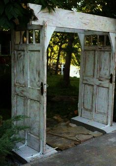 Make an Arbor Walkway using Salvaged Doors.these are the BEST Upcycled & Repurposed Ideas! Make an Arbor Walkway using Salvaged Doors.these are the BEST Upcycled & Repurposed Ideas! Garden Furniture Design, Diy Furniture Projects, Repurposed Furniture, Garden Projects, Kitchen Furniture, Wooden Furniture, Victorian Furniture, Garden Ideas, Furniture Makeover