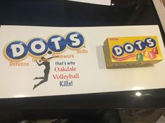 """That's why """"team"""" volleyball Kills! DOTS treat for volleyball spirit! Volleyball Snacks, Volleyball Locker Signs, Volleyball Locker Decorations, Volleyball Team Shirts, Volleyball Crafts, Volleyball Posters, Volleyball Mom, Volleyball Drills, Volleyball Quotes"""