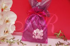 "36 - Hot Pink 6"" x 9"" Organza Sheer Gift Favor Bags -Pack of 36"