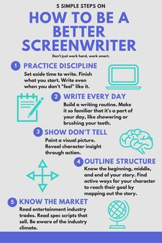 Guide on How to Be A Better Screenwriter!