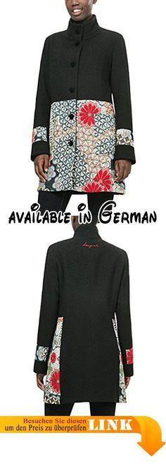 Desigual mantel schwarz weiss