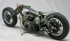 Harley-Davidson Flathead, drag-race inspired 'Esox Lucius' | Stellan Egeland of SE Service near Stockholm, Sweden.