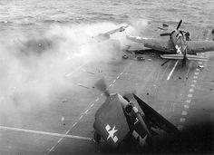 kamikazes v.s. USS Saratoga, Iwo Jima, Feb 1945