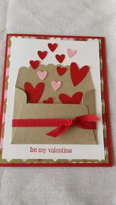 . Valentine Crafts, Be My Valentine, Preschool Friendship, Love You To Pieces, Gifts For Your Boyfriend, Some Cards, Mothers Day Cards, Art Lesson Plans, Art Lessons