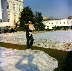 JFK and his daughter