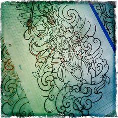 Sketchin' (2012)   Statigram – Instagram webviewer  #samurai #horse #psychedelic #oriental #tattoo #sketch #2012