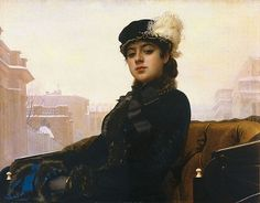 A Young Woman, ca. 1883 (Ivan Kramskoi) (1837-1887) State Tretyakov Gallery, Moscow, 5893