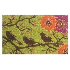Birds in a Tree Green Coir/ Vinyl Doormat (1'5 x 2'5) | Overstock.com Shopping - Big Discounts on Momentum Mats Door Mats