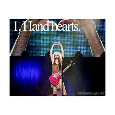 1. Hand hearts.   it's a #swiftie thing(: