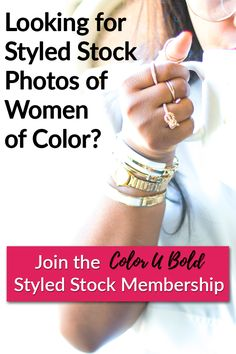 Looking for feminine styled stock photos of Women of Color?  Check out my blog post to find out why the Color U Bold Styled Stock Membership is so great...besides the low $10 monthly cost of course...
