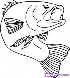State fish largemouth bass.....not to hard to draw....yay!