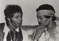 Arthur Lee (Love) with Jimi Hendrix - 1967