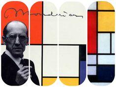 Pintando sonrisas de colores: Nos acercamos a la obra de Piet Mondrian. Piet Mondrian, Blavatsky, Illustrators, Teaching, Movie Posters, Pictures, Primary Colors, De Stijl, Modern Art