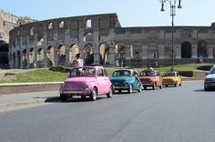 self-drive fiat 500 tour of rome (3 hr)