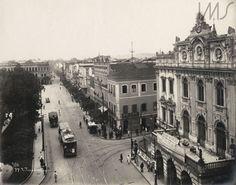 Augusto Malta -    Praça Tiradentes,  1920 (à direita antigo teatro, atual João…