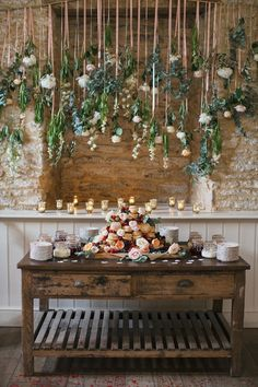 dessert tables - photo by Hayley Savage Photography http://ruffledblog.com/intimate-quintessentially-british-wedding