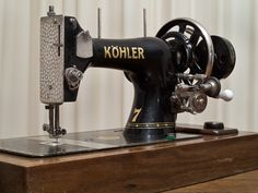 One of the few items that Sidonia brought from her 4 years at Bergen Belsen was a Kohler console sewing machine. It may have looked similar to this one and would have been operated with a foot treadle.
